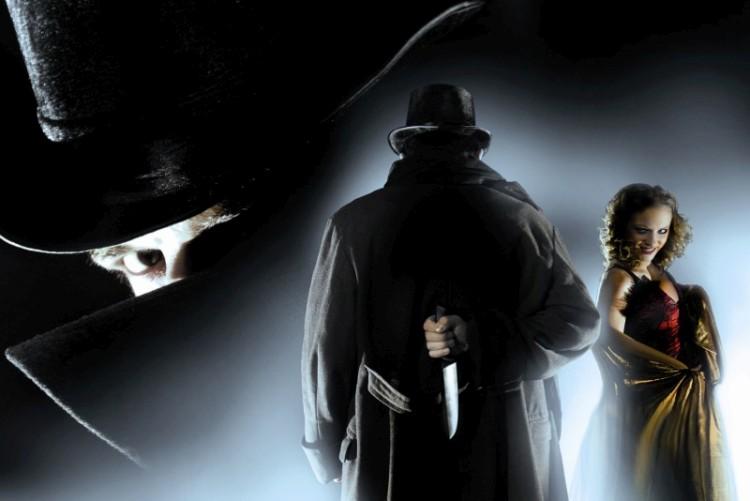 Genießen Sie beste Unterhaltung beim Gruseldinner mit Jack the Ripper (wie hier auf dem Bild), Dracula oder Frankenstein.
